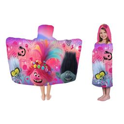 Trolls World Tour Kids Bath and Beach Hooded Towel Wrap, 100% Cotton | Walmart (US)