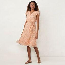 Plus Size LC Lauren Conrad Ruffle Wrap Midi Dress | Kohl's