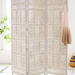 Amber Carved Wood Room Divider Screen | Urban Outfitters (US and RoW)