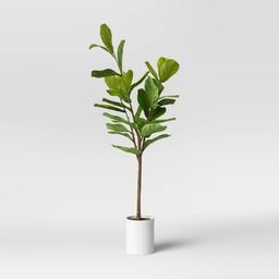"""72"""" Artificial Fiddle Leaf Tree in Pot - Threshold™   Target"""