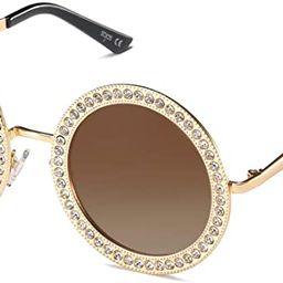 SOJOS Shining Oversized Round Rhinestone Sunglasses Festival Gem Sunnies SJ1095 | Amazon (US)