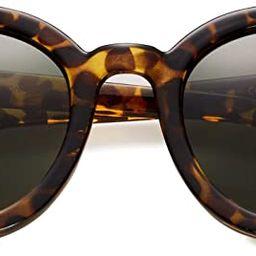 Round Oversized Retro Fashion Sunglasses for Women UV400 Trendy Big Circle Lens Designer Shades G... | Amazon (US)