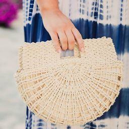Era Of Love Ivory Half Circle Purse | The Pink Lily Boutique