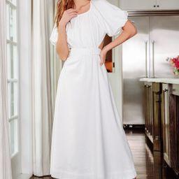 Commemoration White Puff Sleeve Cutout Maxi Dress | Lulus (US)
