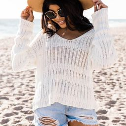 Find A Getaway Cream Sweater | The Pink Lily Boutique