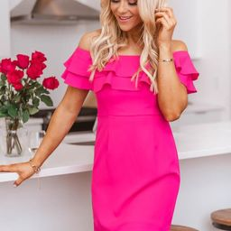 Never Late To The Party Hot Pink Dress | The Pink Lily Boutique