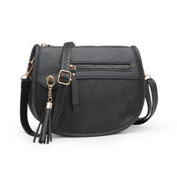 POPPY Fashion Women's Crossbody Purse Faux Leather Shoulder Bag with Tassel-Black   Walmart (US)