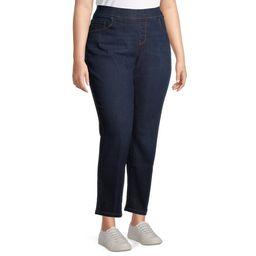 Terra & Sky Women's Plus Size Denim Pull on Straight Leg Jean   Walmart (US)