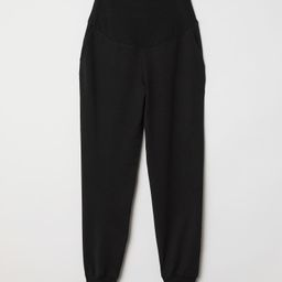 Lightweight sweatpant joggers with a wide panel at top, side pockets, and foldover cuffs at hems. | H&M (US)
