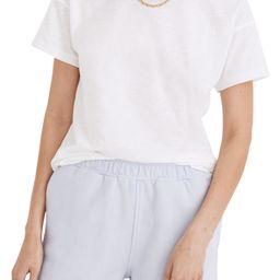 Whisper Cotton Rib Crewneck Ringer T-Shirt | Nordstrom