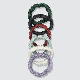 Set of 6 Silk Mini Scrunchies   Verishop