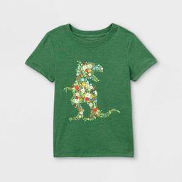Toddler Boys' Floral T-Rex Graphic Short Sleeve T-Shirt - Cat & Jack™ Green | Target