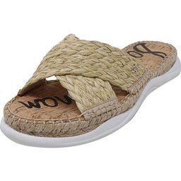 Sam Edelman Women's Jovie Raffia Natural Sandal - 6M   Walmart (US)