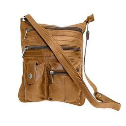 AFONiE Unisex Fashionable Genuine Leather Crossbody Handbag   Walmart (US)