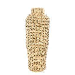Cecily Water Hyacinth And Rattan Vase, Small | Pottery Barn (US)
