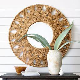 Stinson Woven Round Mirror, 45 | Pottery Barn (US)