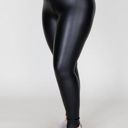 Chic Start Faux Leather Black Leggings | The Pink Lily Boutique