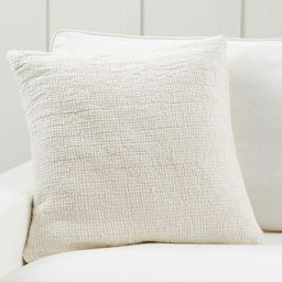 """Ivy Linen Textured Pillow Cover, 22 x 22"""""""", Ivory 
