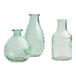 Aqua Green Glass Bud Vases Set of 3 by World Market | World Market