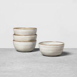 4pk Stoneware Reactive Glaze Mini Bowl Set Gray - Hearth & Hand™ with Magnolia | Target