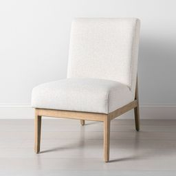 Upholstered Natural Wood Slipper Accent Chair Oatmeal - Hearth & Hand with Magnolia | Target