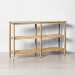 3 Shelf Wood & Cane Bookcase - Hearth & Hand with Magnolia | Target