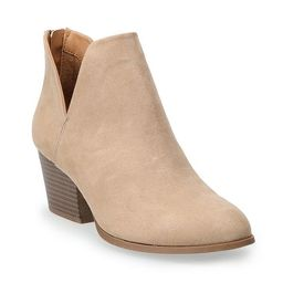 SO® Barb Women's Ankle Boots   Kohl's
