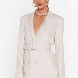 Womens What's It to You Linen Belted Blazer - Cream   NastyGal (US & CA)