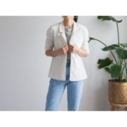 Eileen Fisher Cream Linen Blazer Jacket/Lined Minimal Size S   Etsy (US)
