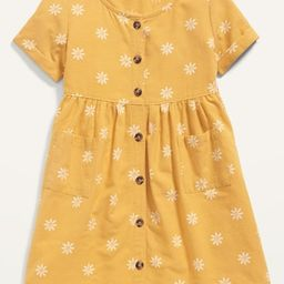 Fit & Flare Printed Button-Front Dress for Toddler Girls | Old Navy (US)