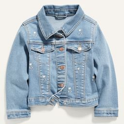 Embroidered-Daisy Stretch Jean Jacket for Toddler Girls | Old Navy (US)