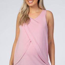 Mauve Solid Sleeveless Maternity Nursing Top | PinkBlush Maternity