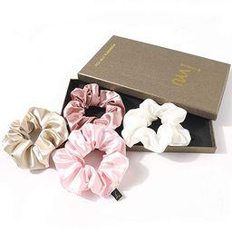 Silk Scrunchies Women Hair Ties - Ivyu Big Scrunchy Hair Bands Elastic Hair Accessories Soft Larg...   Amazon (US)
