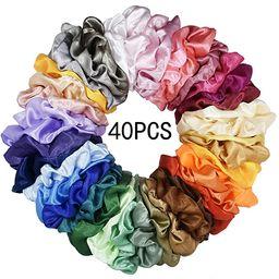 Mcupper 40 Pcs Hair Silk Scrunchies Satin Elastic Hair Bands Scrunchy Hair Ties Ropes Scrunchie f...   Amazon (US)