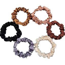 6Pcs Premium Satin Elastic Hair Bands Scrunchy Ponytail holder Hair Scrunchies Hair Ties Ropes Sc...   Amazon (US)