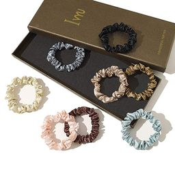 Scrunchies Silk Satin Hair Ties - Elestics Ponytail Holder Hair Bands Small Scrunchy For Thick Cu...   Amazon (US)