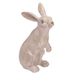 Transpac Resin 10 in. White Easter Sitting Bunny Statuette   Target