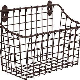 Spectrum Diversified Vintage Large Cabinet & Wall-Mounted Basket for Storage & Organization Rusti... | Amazon (US)
