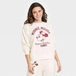 Women's Vintage Minnie Mouse Graphic Sweatshirt - Off-White   Target