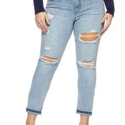 Sofia Jeans by Sofia Vergara Plus Size Bagi Boyfriend Mid-Rise Jean | Walmart (US)