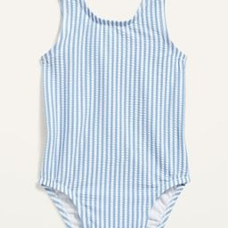 Seersucker-Stripe Ruffle-Trim Swimsuit for Baby | Old Navy (US)