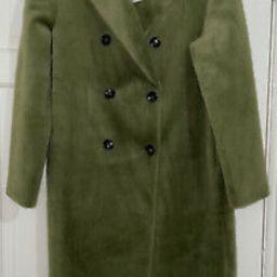 ZARA AW21 GREEN DOUBLE BREASTED FAUX FUR COAT SIZE S BNWT    eBay   eBay US