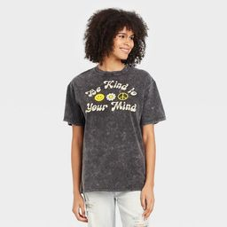 Women's Be Kind to Your Mind Short Sleeve Graphic T-Shirt - Black   Target