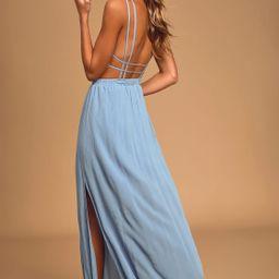 Lost in Paradise Slate Blue Maxi Dress | Lulus (US)