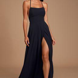 Dreamy Romance Black Backless Maxi Dress | Lulus (US)