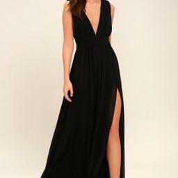 Heavenly Hues Black Maxi Dress | Lulus (US)