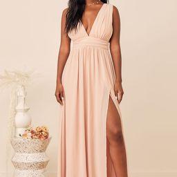 Heavenly Hues Blush Maxi Dress | Lulus (US)