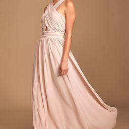 Divine Inspiration Blush Halter Maxi Dress   Lulus (US)