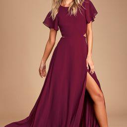 Garden Bliss Burgundy Cutout Maxi Dress | Lulus (US)
