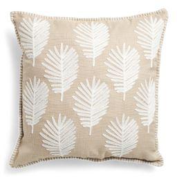 22x22 Embroidered Palm Leaf Pillow   Home   Marshalls   Marshalls